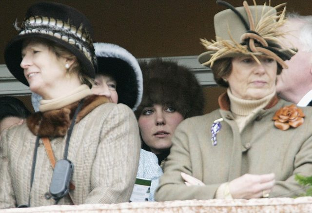 Kate Middleton stands in the royal box to watch the Cheltenham Races, March 2006