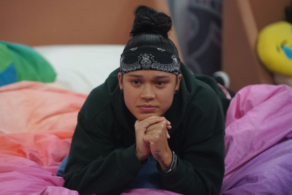 Kaycee Clark in the 'Big Brother' house