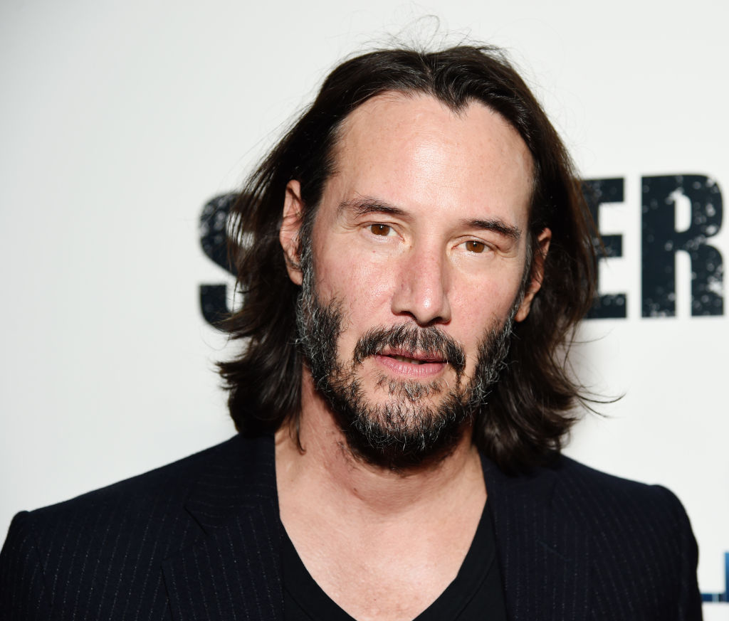 Keanu Reeves on the red carpet at a movie premiere in September 2019