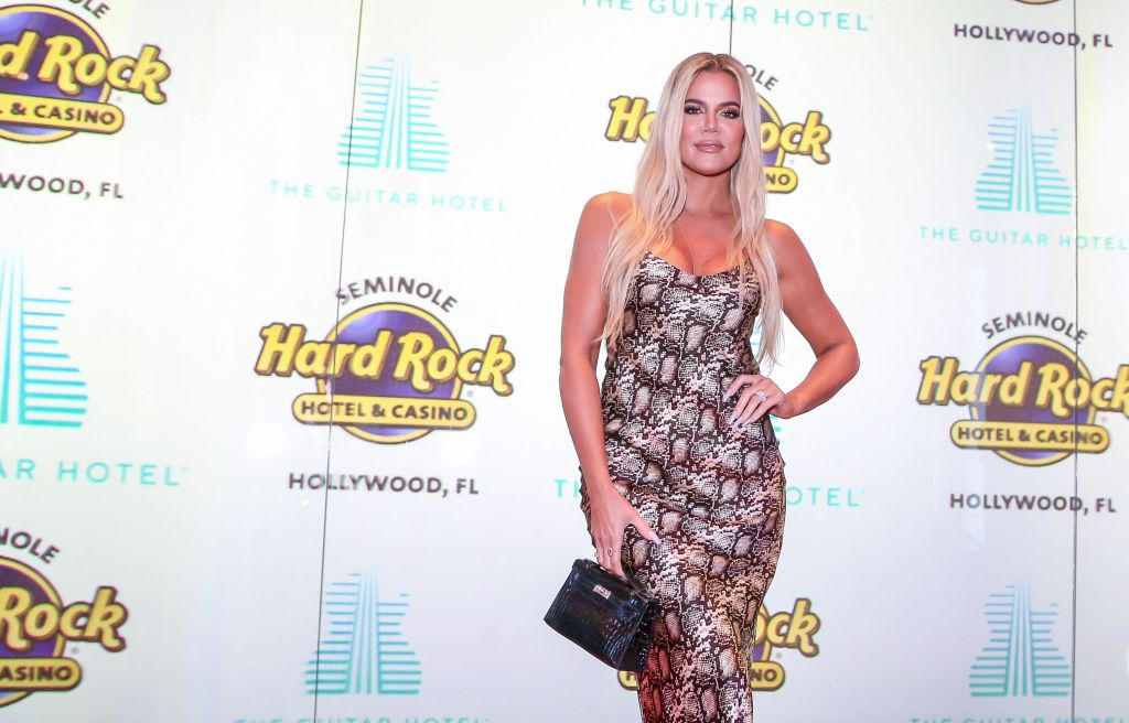 Khloe Kardashian attends the Grand Opening of the Guitar Hotel expansion at Seminole Hard Rock Hotel