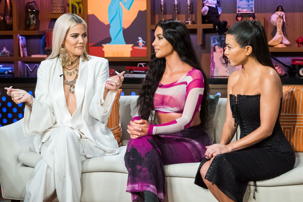 Khloe Kardashian, Kim Kardashian, and Kourtney Kardashian on Watch What Happens Live With Andy Cohen - Season 16