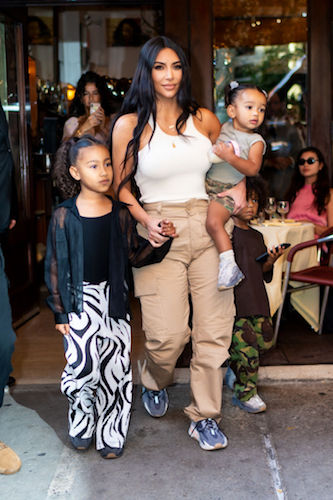 Kim Kardashian West with North and Chicago