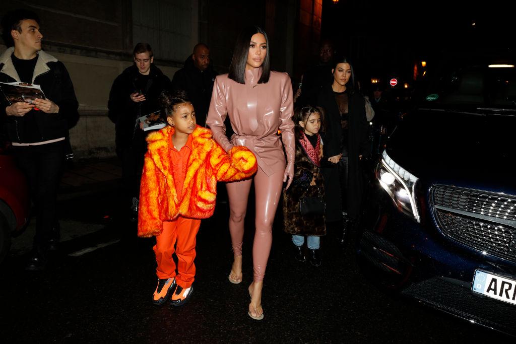 Kourtney Kardashian, daughter Penelope Disick, Kim Kardashian and daughter North West