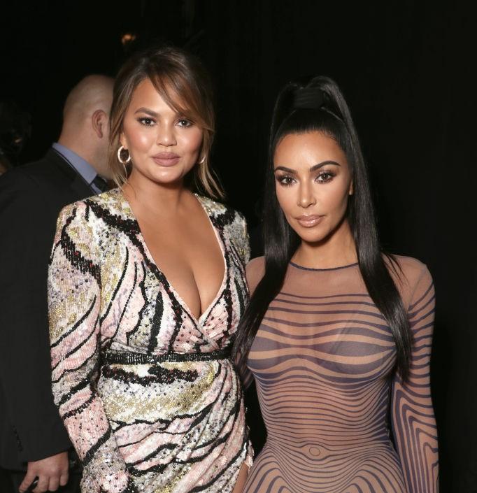 Kim Kardashian and Crissy Teigen