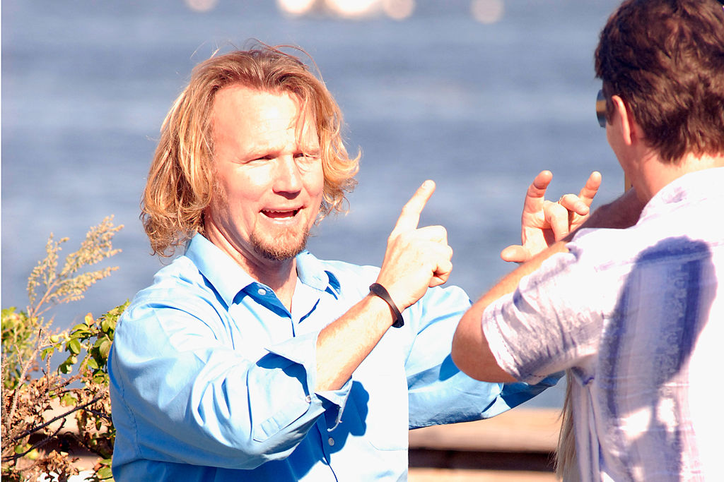 Kody Brown of 'Sister Wives' visits Plymouth Beach on September 10, 2011