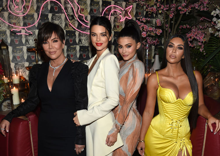 Kris Jenner with her daughters Kendall, Kylie, and Kim