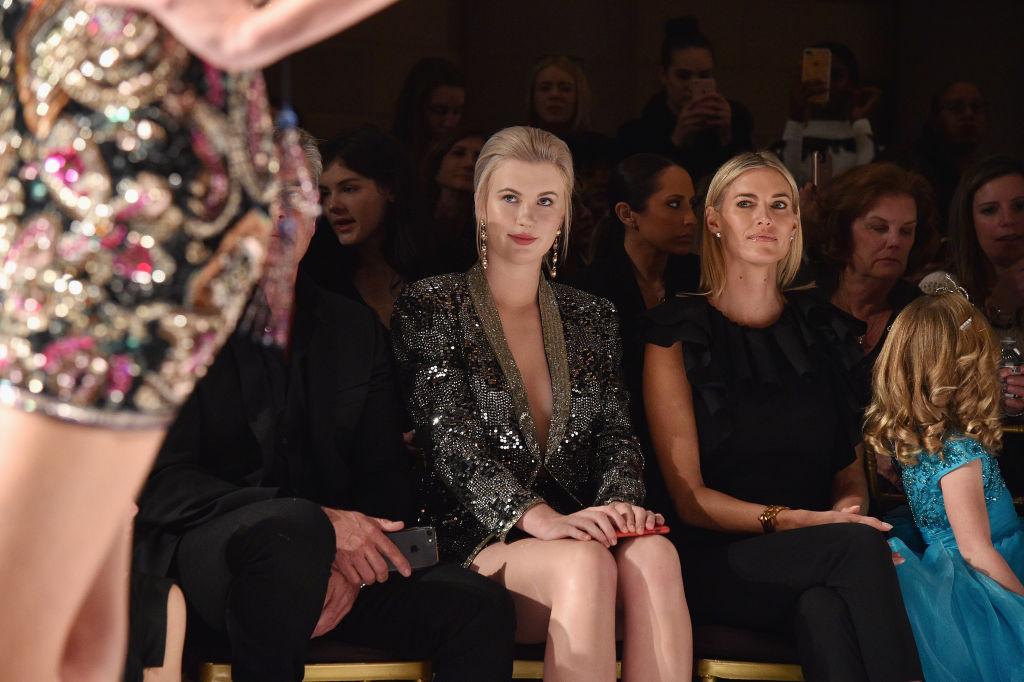 Ireland Baldwin and Kristen Taekman attend the NYFW Sherri Hill Runway Show