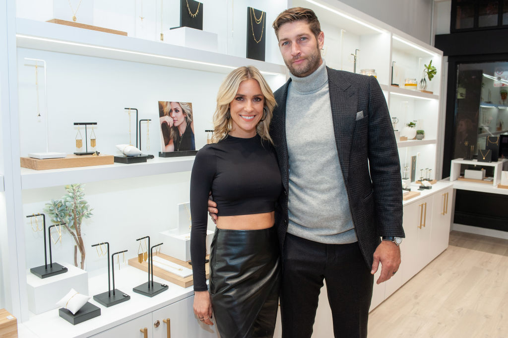 Kristin Cavallari and Jay Cutler attend the Uncommon James VIP Grand Opening