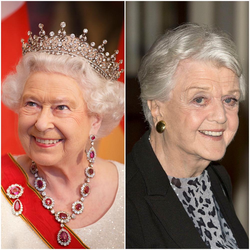 (L) Queen Elizabeth II (R) Angela Lansbury