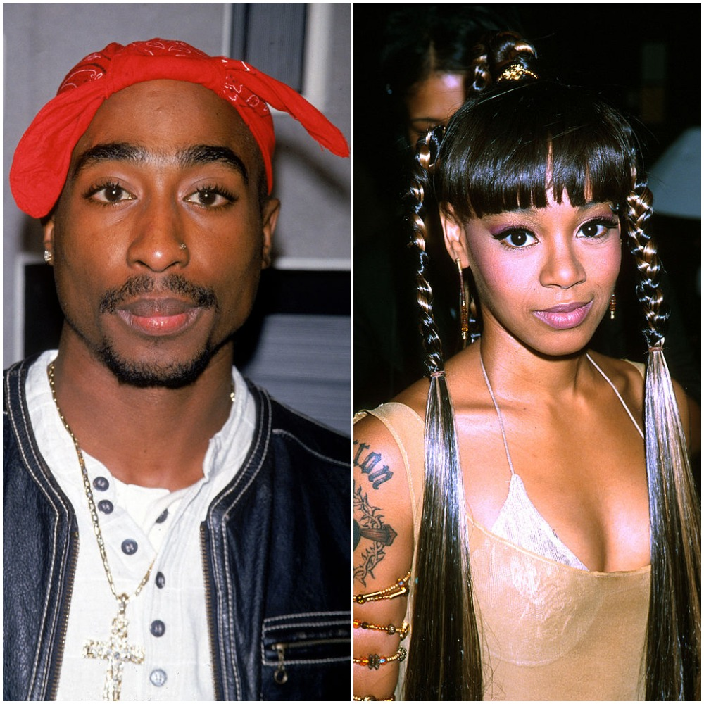 (L) Tupac Shakur, (R) Lisa 'Left Eye' Lopes