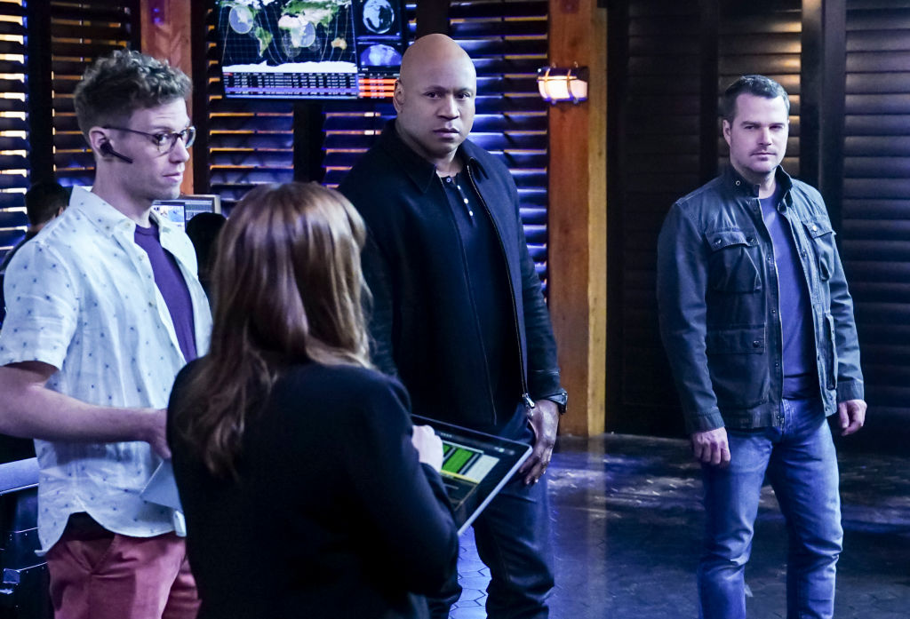LL Cool J with the NCIS cast | Monty Brinton/CBS via Getty Images