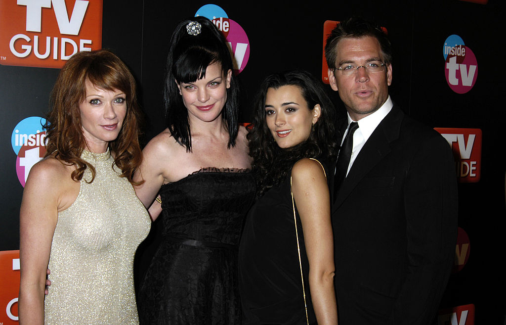 Lauren Holly, Pauley Perrette, Cote de Pblo, and Michael Weatherly   Barry King/WireImage