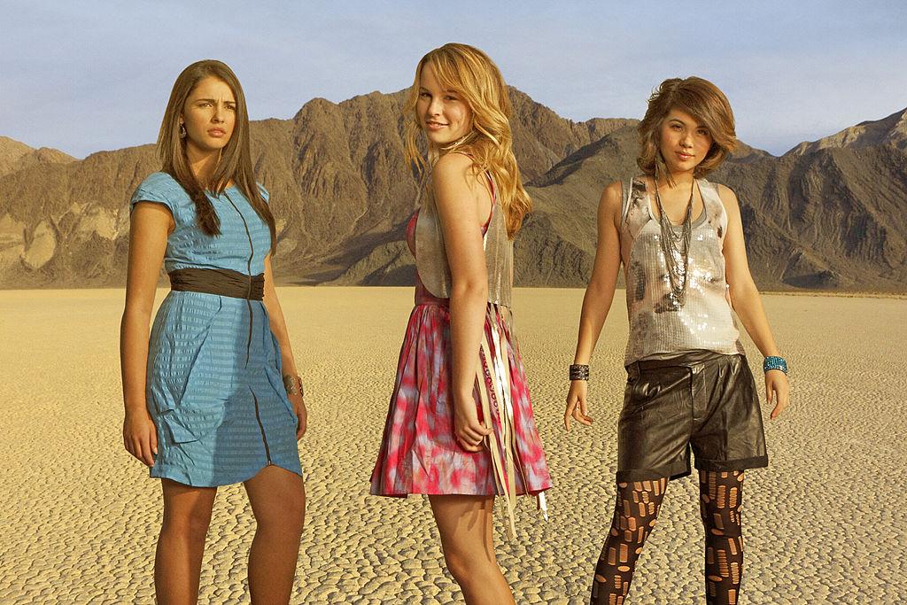 "Disney Channel's ""Lemonade Mouth"" stars Naomi Scott as Mo, Bridgit Mendler as Olivia and Hayley Kiyoko as Stella"