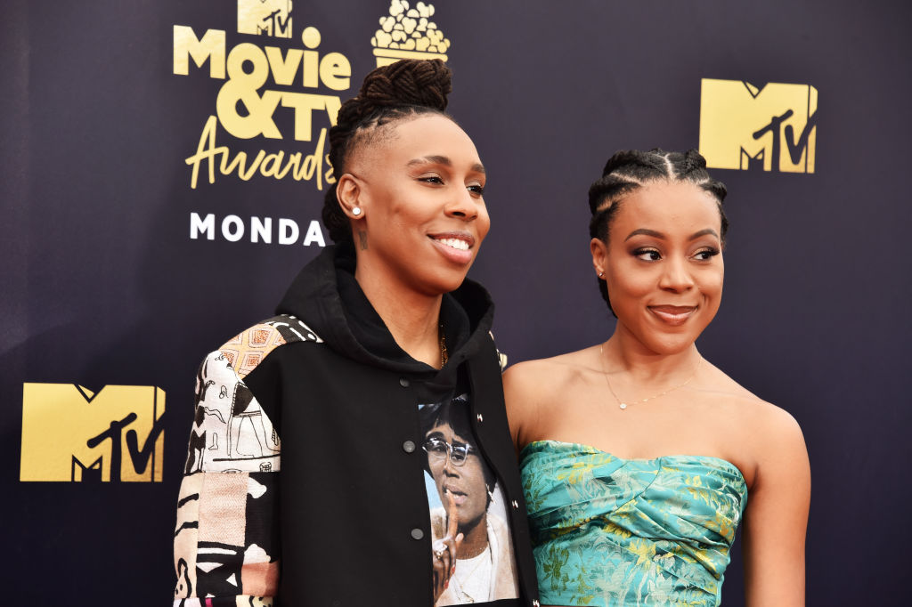 Honoree Lena Waithe (L) and Alana Mayo attend the 2018 MTV Movie And TV Awards at Barker Hangar on June 16, 2018 in Santa Monica, California