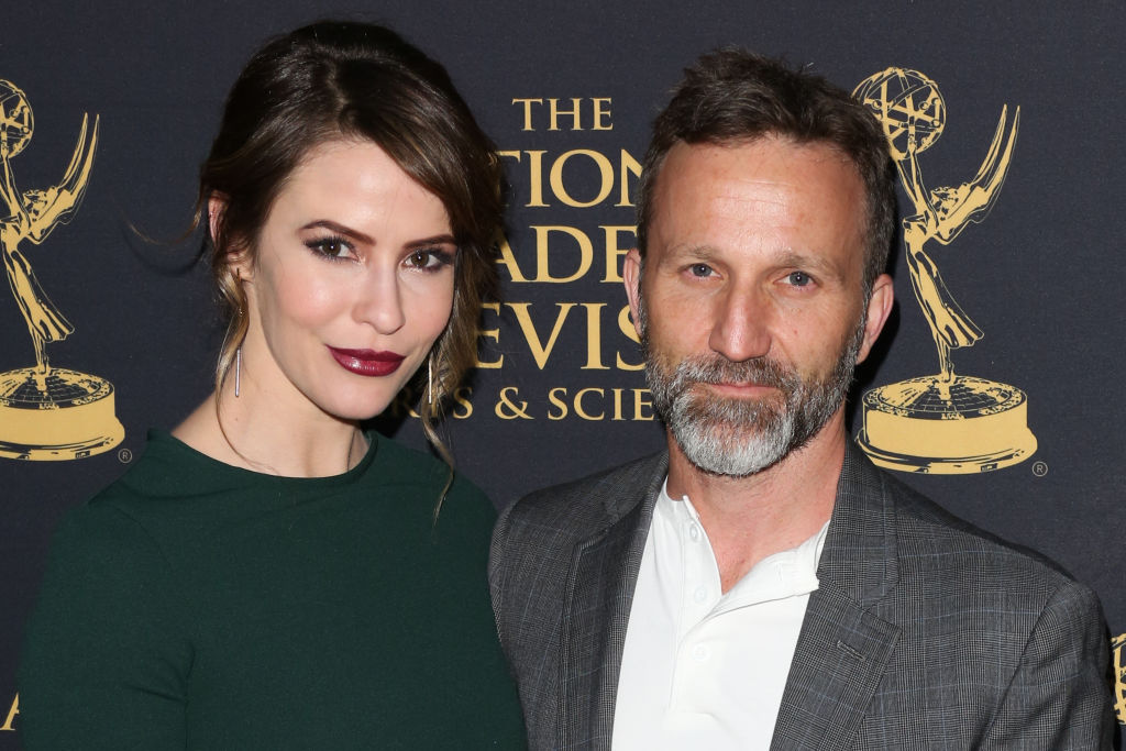 Linsey Godfrey and Breckin Meyer