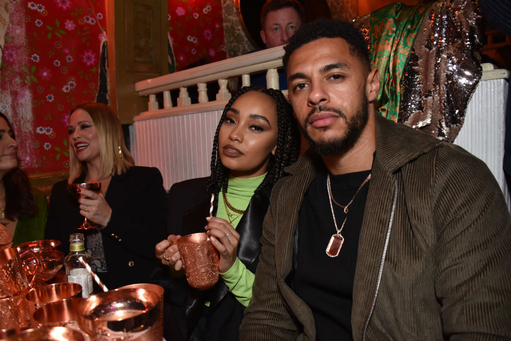 Leigh-Anne Pinnock and Andre Gray attend Dita Von Teese X Absolut Elyx at The Box on November 14, 2018 in London, England.