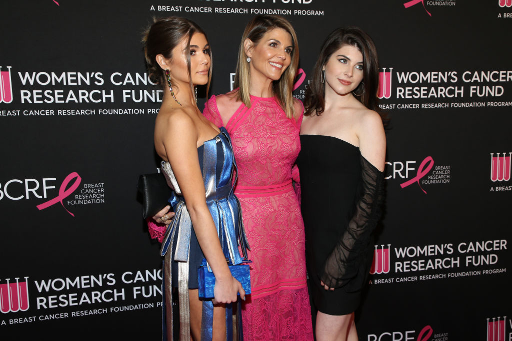 Olivia Jade Giannulli, Lori Loughlin, and Isabella Rose Giannulli attend The Women's Cancer Research Fund's An Unforgettable Evening Benefit Gala