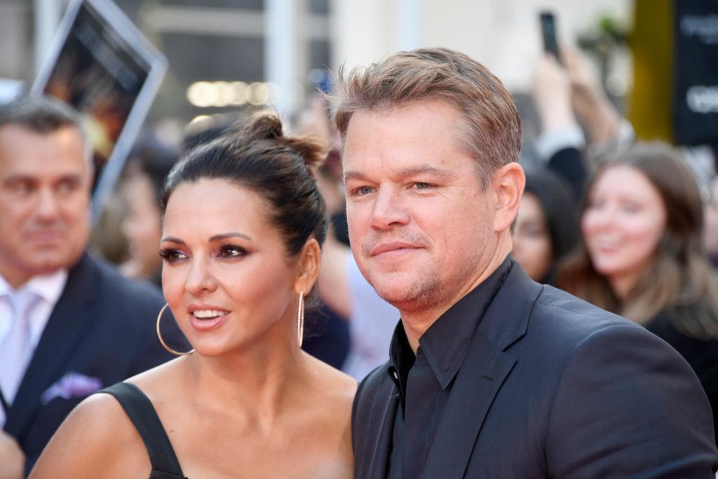 Luciana Barroso and Matt Damon attends the 'Ford v Ferrari' premiere