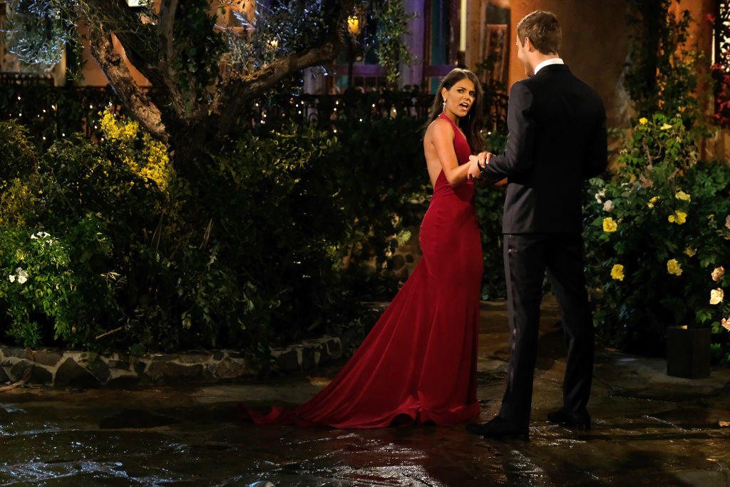 Madison Prewett and Peter Weber meeting at the Bachelor Mansion