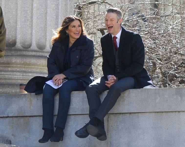 Mariska Hargitay and Peter Scanavino
