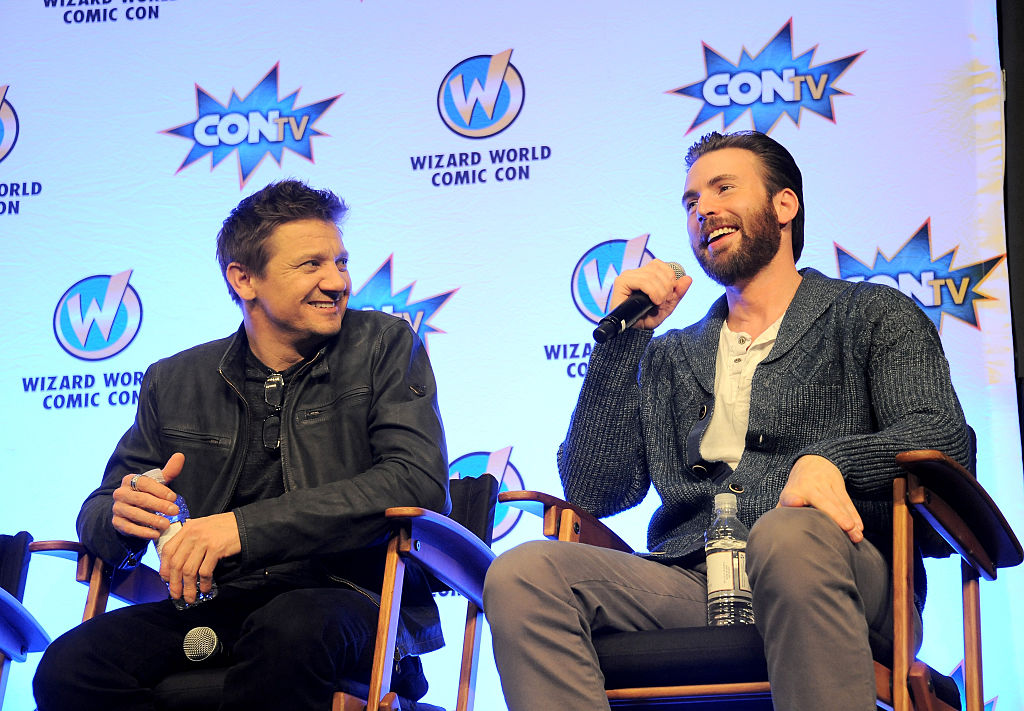 MCU's Jeremy Renner and Chris Evans on day 2 of Wizard World Comic Con New Orleans