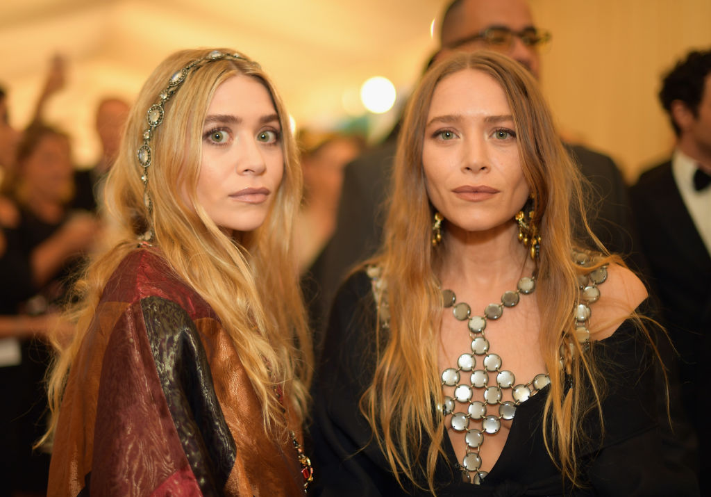 Ashley Olsen and Mary-Kate Olsen attend the Heavenly Bodies: Fashion & The Catholic Imagination Costume Institute Gala at The Metropolitan Museum of Art on May 7, 2018 in New York City