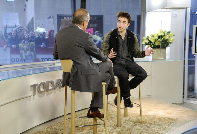 Matt Lauer and Robert Pattinson on 'Today', 2011