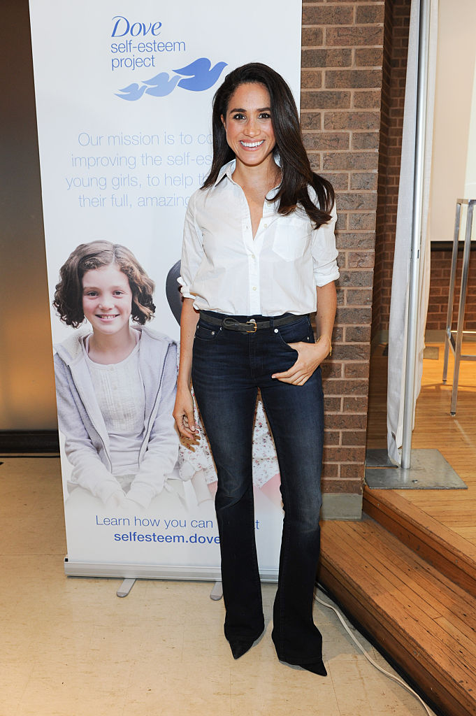 Meghan Markle, sharing the new Dove Self-Esteem Project resources with youth workers and helping young girls reach their full potential at Earl Bales Community Centre on October 6, 2015