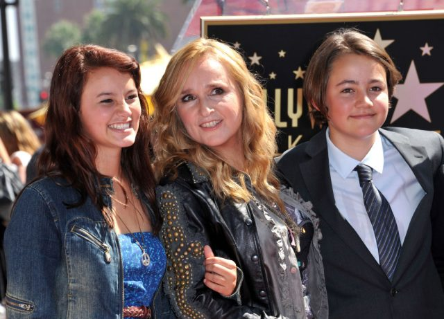 Melissa Etheridge with her children, Bailey and Beckett, during her Walk of Fame induction ceremony, 2011