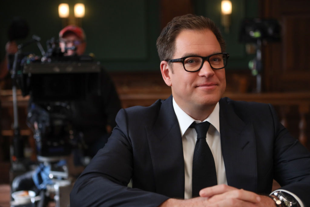 Michael Weatherly on the set of 'Bull.' | Craig Blankenhorn/CBS via Getty Images