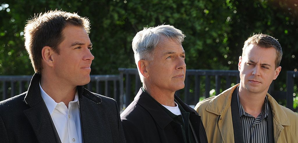 NCIS stars Michael Weatherly, Mark Harmon, and Sean Murray