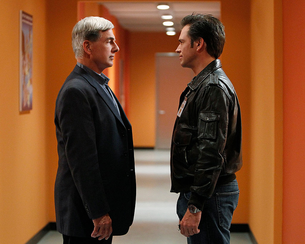 Michael Weatherly and Mark Harmon in NCIS