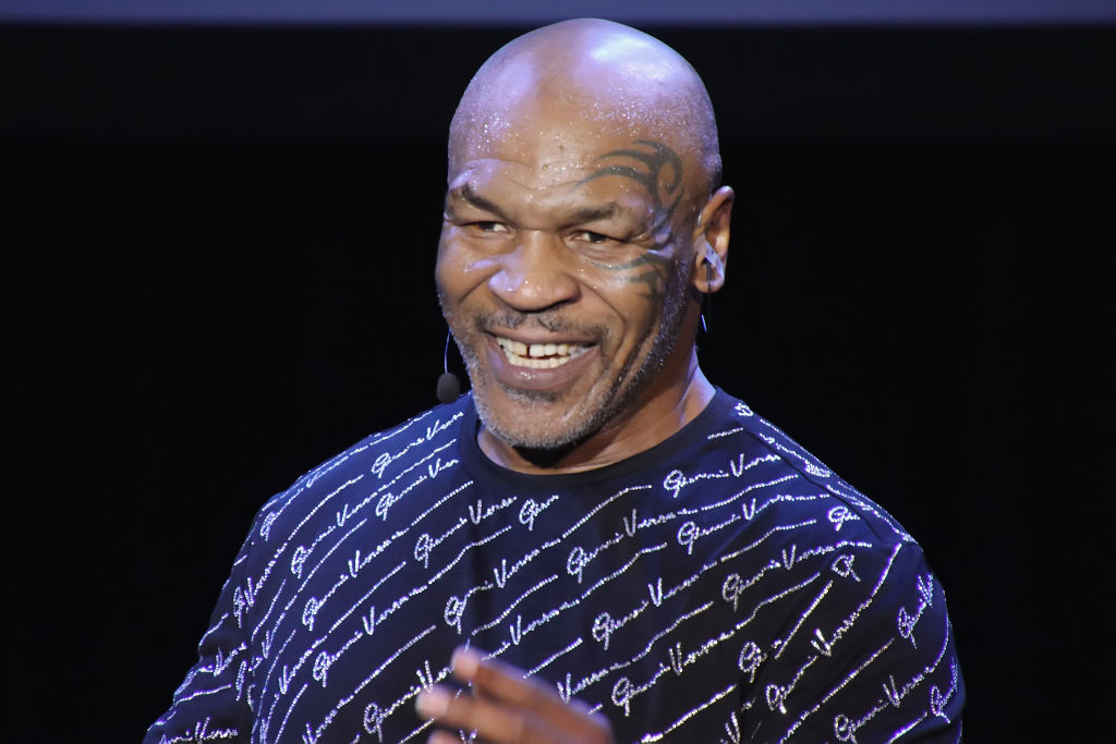 Mike Tyson smiling