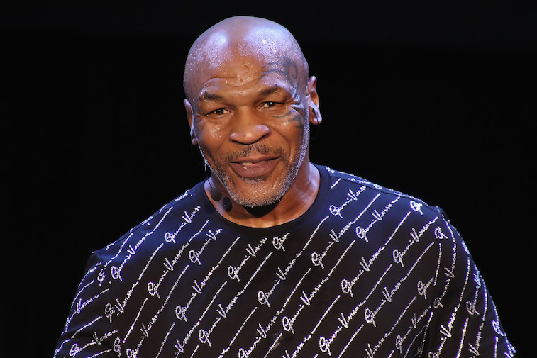 Mike Tyson performs onstage
