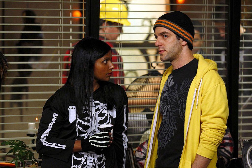 Mindy Kaling as Kelly Kapoor, B.J. Novak as Ryan Howard on 'The Office'