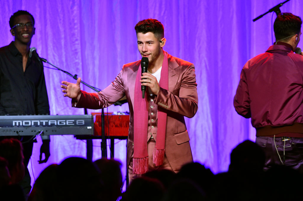 Nick Jonas of The Jonas Brothers performs onstage during WCRF's 'An Unforgettable Evening'