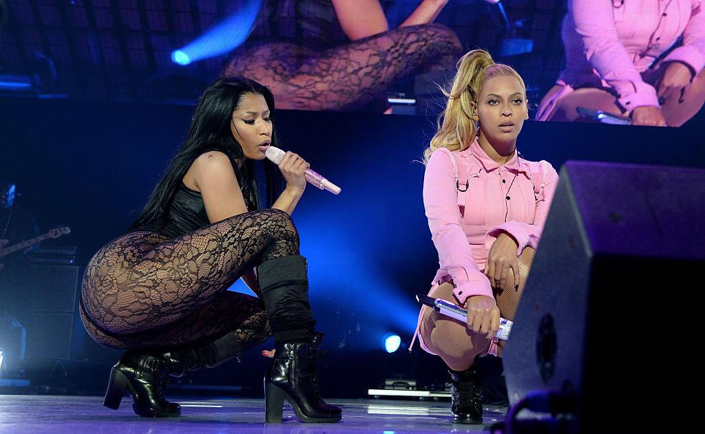 Nicki Minaj and Beyoncé at a concert in October 2015