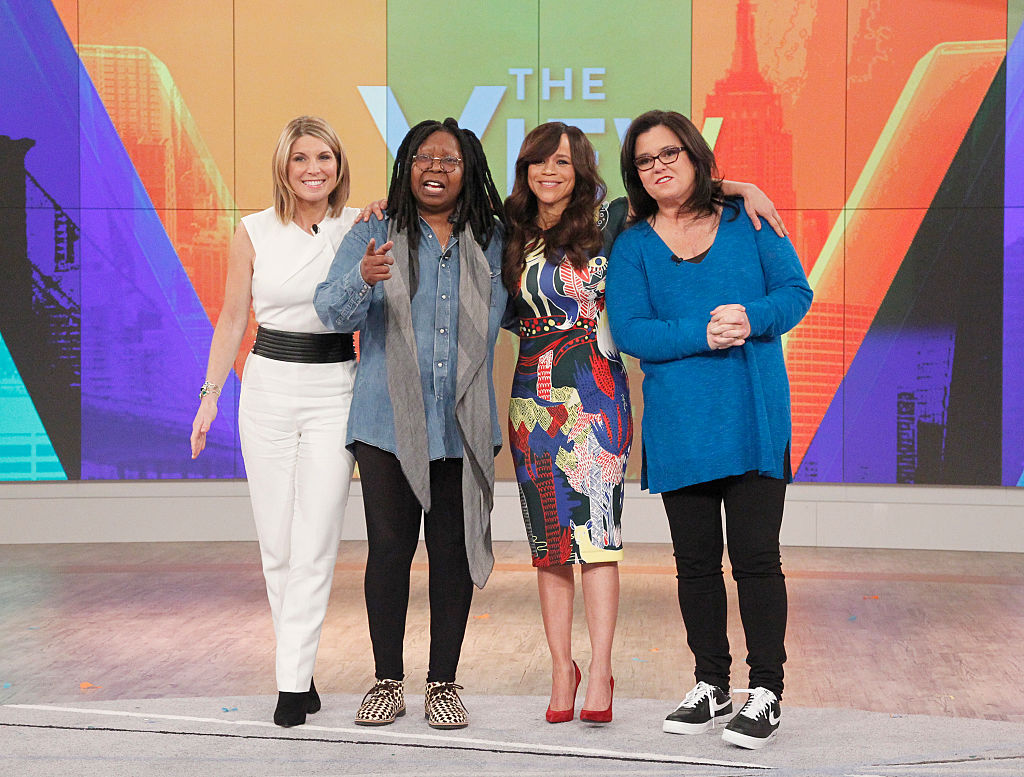 Nicolle Wallace, Whoopi Goldberg, Rosie Perez, and Rosie O'Donnell of 'The View'