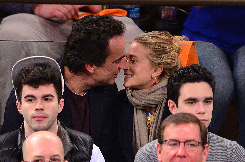Olivier Sarkozy and Mary-Kate Olsen at an event