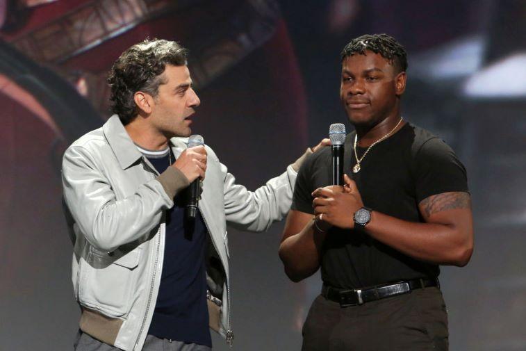 Oscar Isaac and John Boyega as Finnpoe in 'Star Wars'