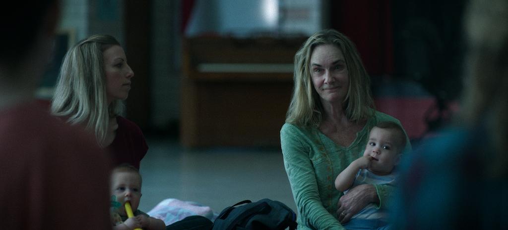 Lisa Emery as Darlene Snell on 'Ozark' holding a baby