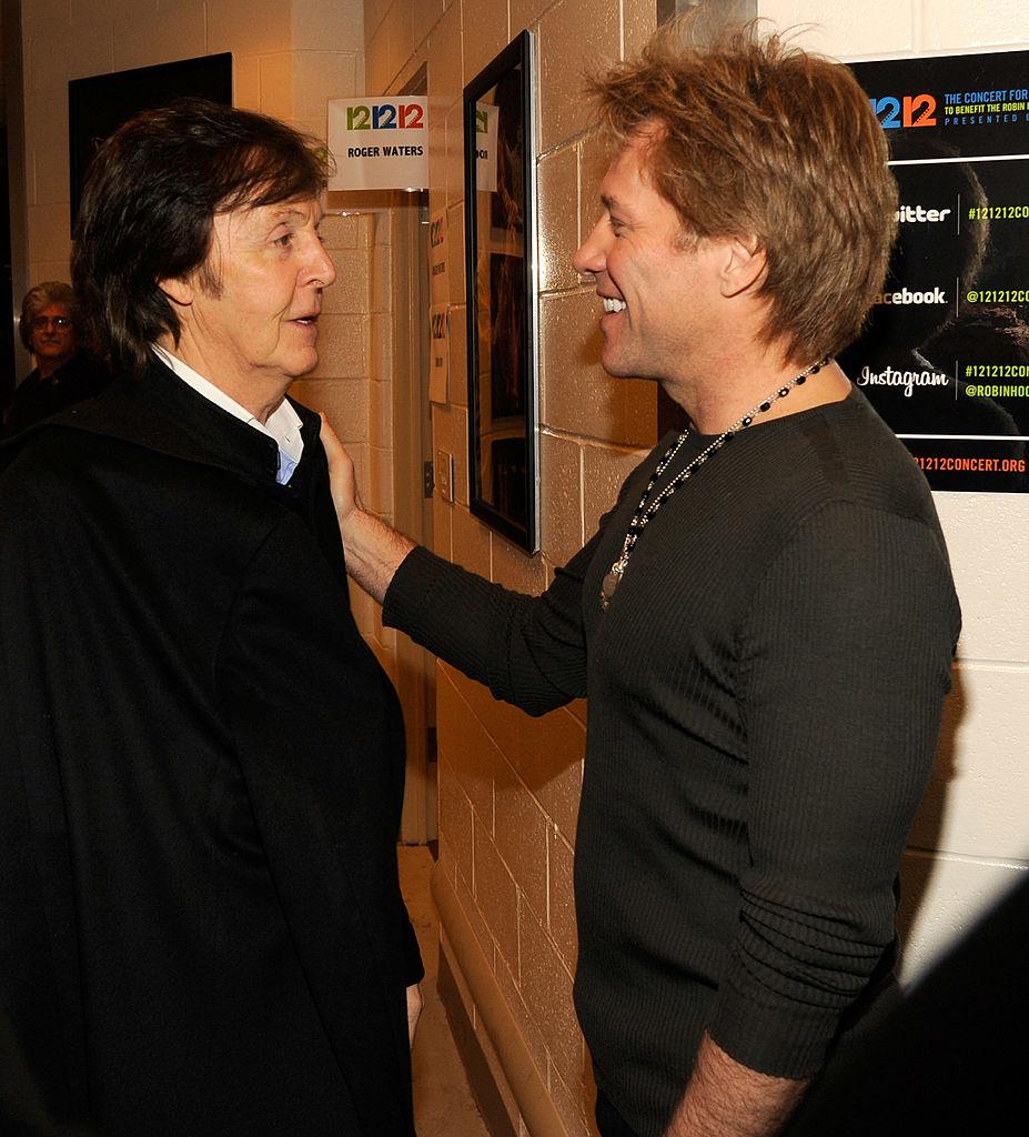 Paul McCartney and Jon Bon Jovi