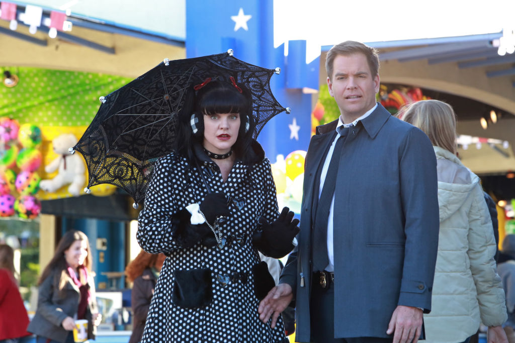 Pauley Perrette and Michael Weatherly of NCIS