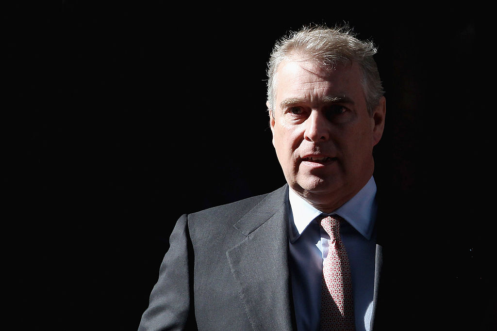 Prince Andrew, Duke of York leaves the headquarters of Crossrail at Canary Wharf on March 7, 2011 in London, England
