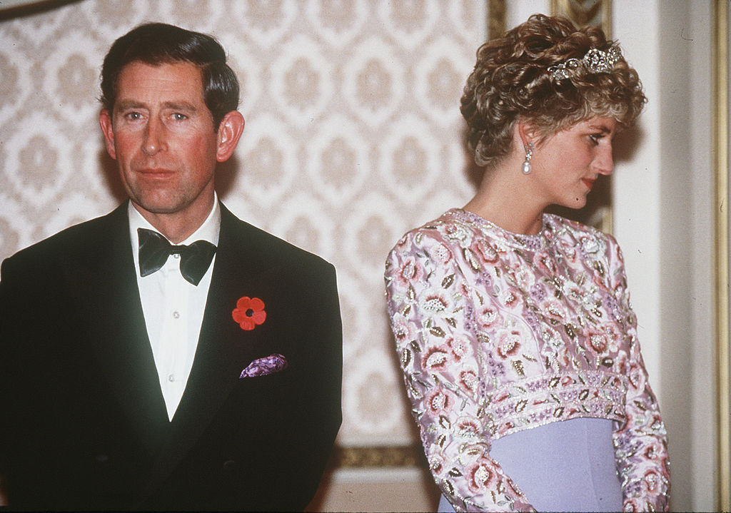 Prince Charles and Princess Diana during their tour of South Korea in 1992