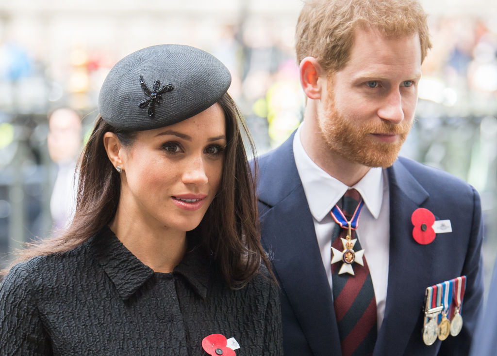 Prince Harry and Meghan Markle attend Anzac Day Services on April 25, 2018