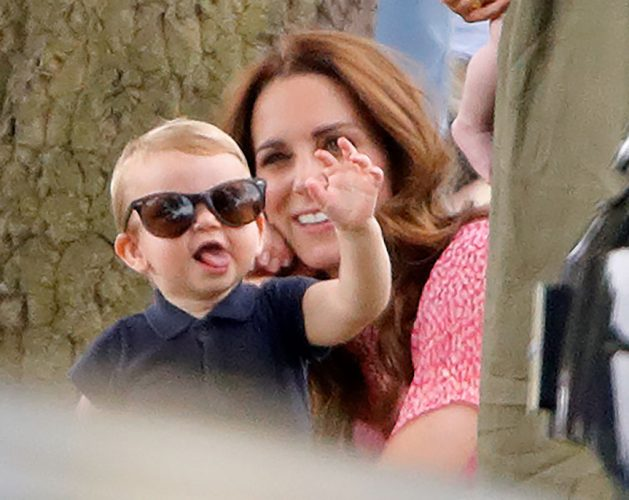 Prince Louis wears Kate Middleton's sunglasses at a polo match