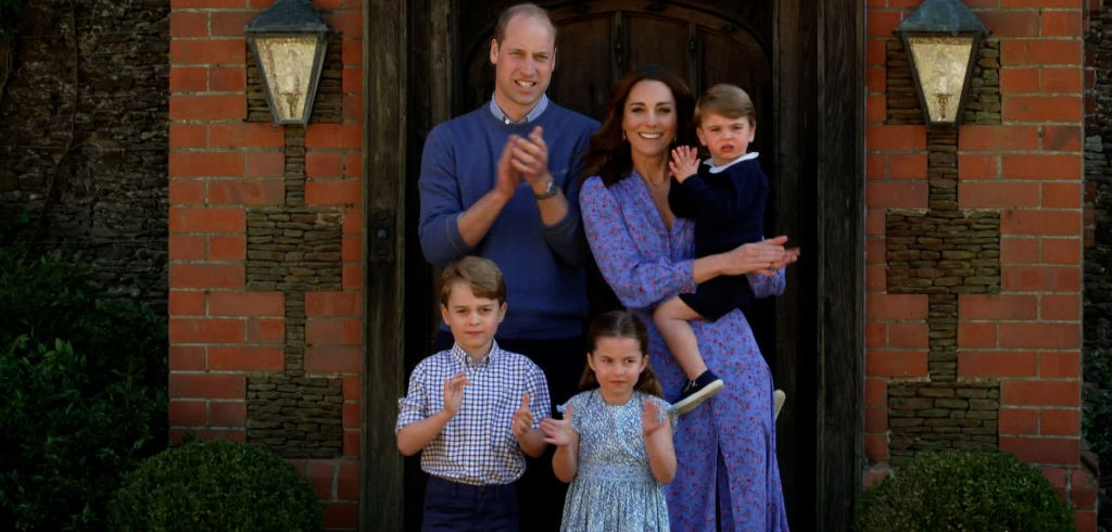 Prince William, Kate Middleton, and their children