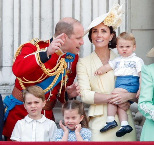 Prince William, Kate Middleton, Prince Louis, Prince George, and Princess Charlotte at 2019 Trooping the Colour
