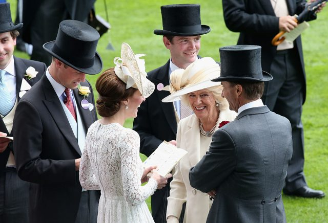 Prince William, Kate Middleton, and Camilla Parker Bowles attend Royal Ascot, 2016